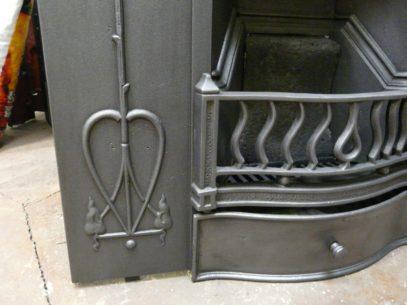 113MC_1200_Art_Nouveau_Cast_Iron_Fireplace