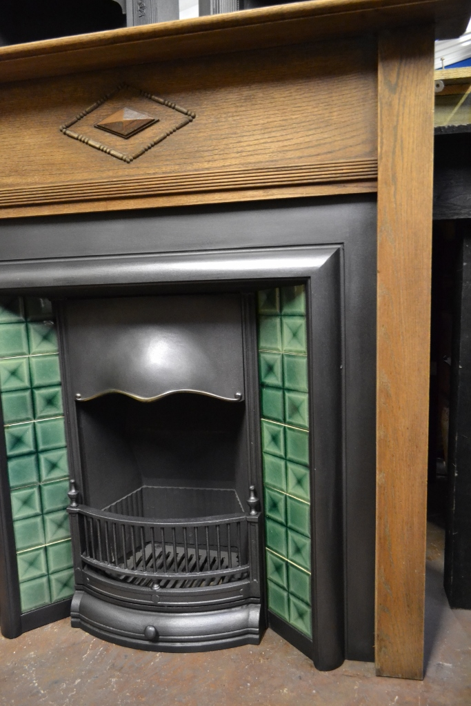 Oak 1920's Fireplace Surround - 1331WS - Old Fireplaces
