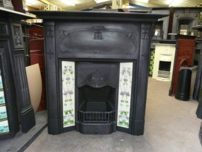 220TC_1237_Art_Nouveau_Tiled Combination_Fireplace