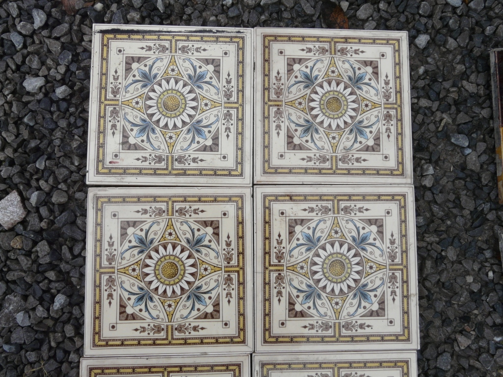 R002 - Reclaimed Reproduction Fireplace Tiles - Old Fireplaces