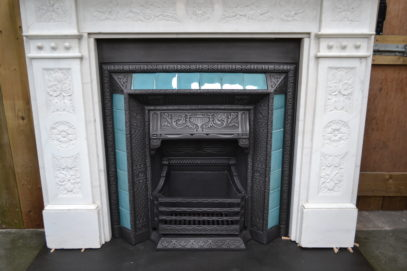 Victorian Carved Carrara Marble Fire Surround 1275MS