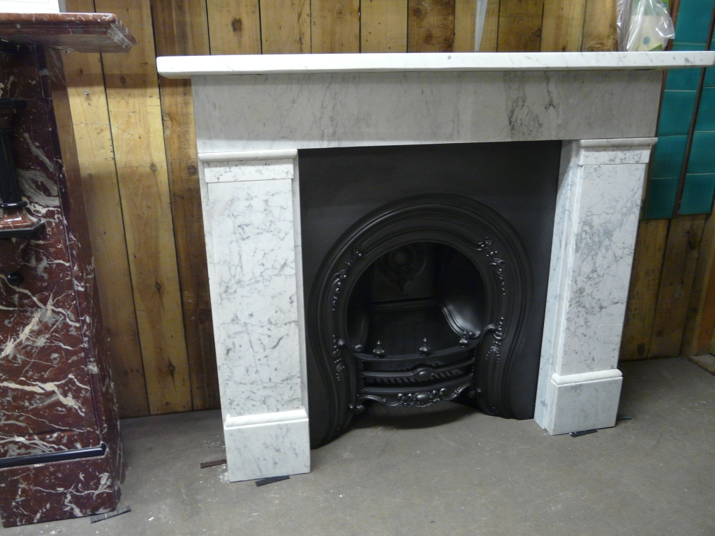 127MS 1288 Reclaimed Victorian Carrara Marble Surround