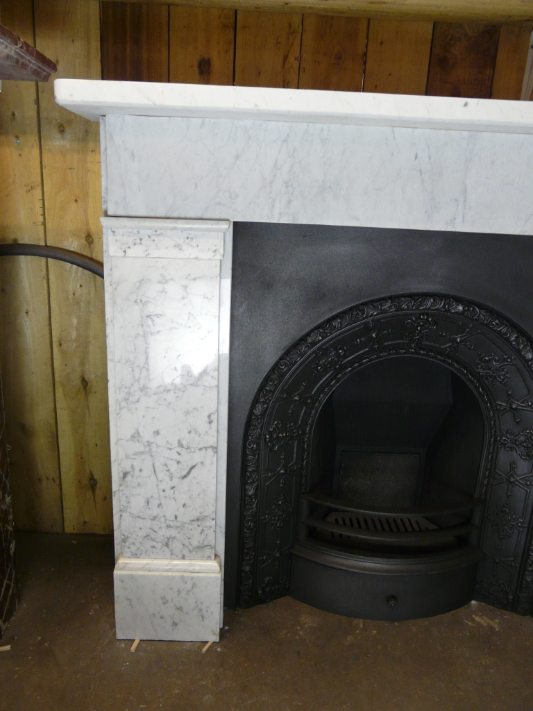 Reclaimed Victorian Carrara Marble Surround 127ms 1288