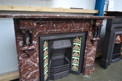 Victorian Rouge Marble Fireplace 1284MS
