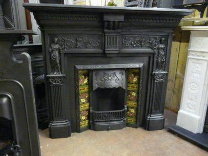 036CS_1324_Victorian_'Peace_&_Plenty'_Cast_Iron_Fireplace_Surround