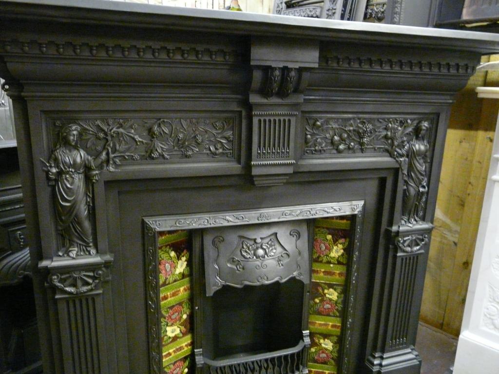 Victorian Peace And Plenty Cast Iron Fire Surround
