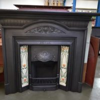Art Nouveau Cast Iron Fire Surround 1686CS Antique Fireplace Company