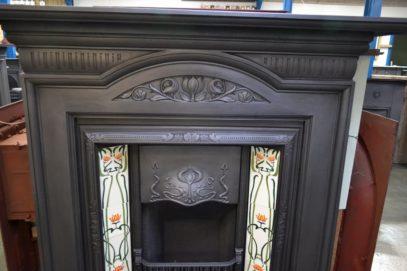 Art Nouveau Cast Iron Fire Surround 1686CS - Oldfireplaces