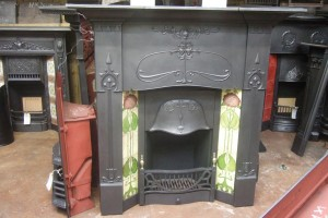 Antique Tiled Combination Fireplaces