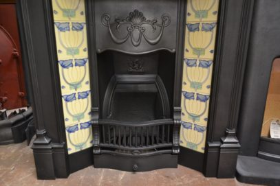 Edwardian Tiled Combination Fireplace Old fireplaces