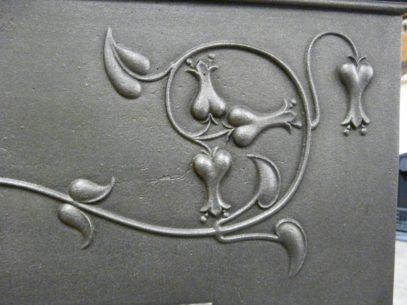 222TC_1367_Edwardian_Art_Nouveau_Tiled_Fireplace