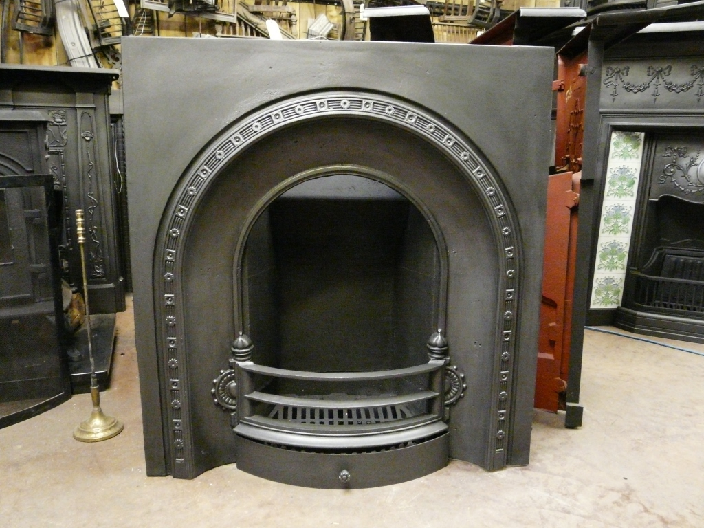 Victorian Arched Insert Fireplace 050ai 1394 Antique