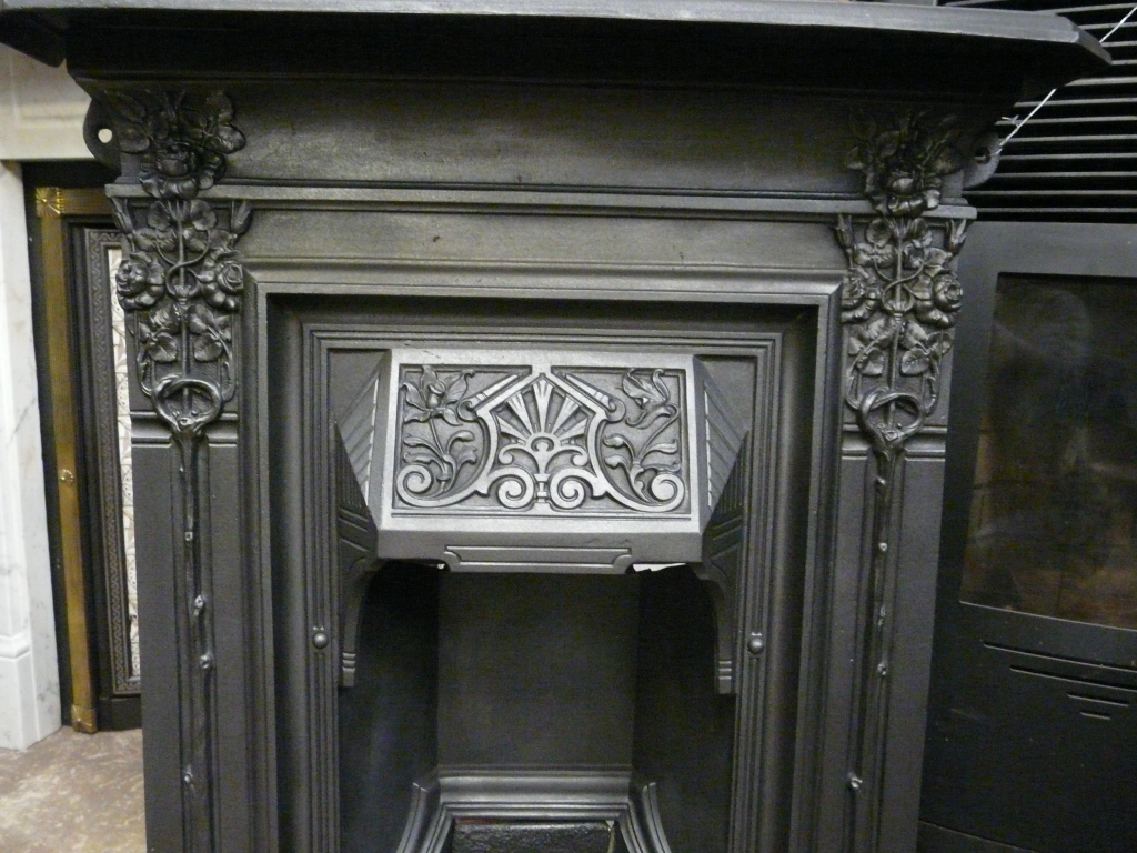 Art Nouveau Bedroom Fireplace - 1417B - Old Fireplaces
