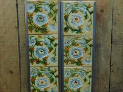 Victorian Majolica Fireplace Tiles - V057 Oldfireplaces