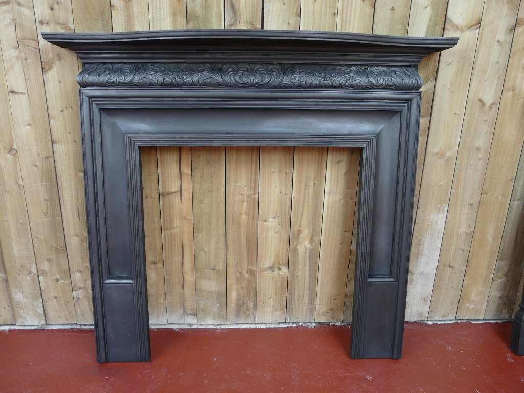 Antique Coalbrookdale Cast Iron Fire Surrounds 105cs 1454 Old Fireplaces