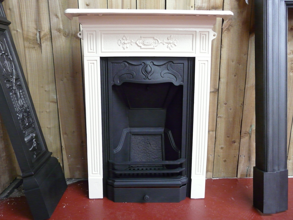 Victorian Black & Cream Painted Bedroom Fireplace - 016B ...