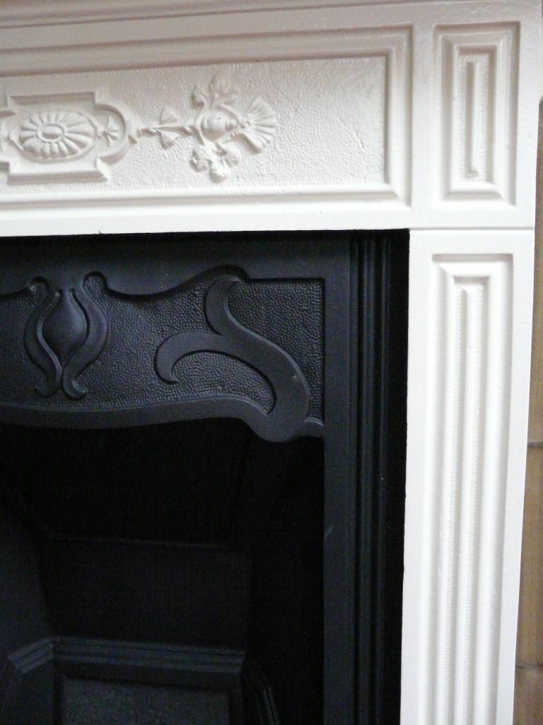 Victorian Black Amp Cream Painted Bedroom Fireplace 016b