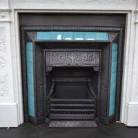 Victorian Tiled Insert 1496TI with Victorian Marble Fire Surround