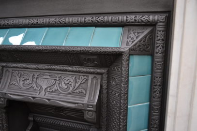 VVictorian Tiled Insert 1496TI - Antique Fireplace Co