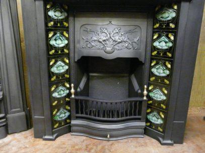 260TC_1500_Art_Nouveau_Tiled_Combination_Fireplace