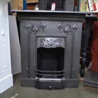 Art Nouveau Cast Iron Fireplace 1514MC - Oldfireplaces