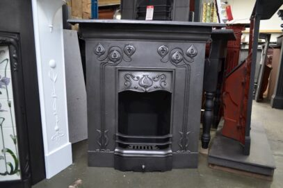 Art Nouveau Cast Iron Fireplace 1514MC - Oldfireplaces