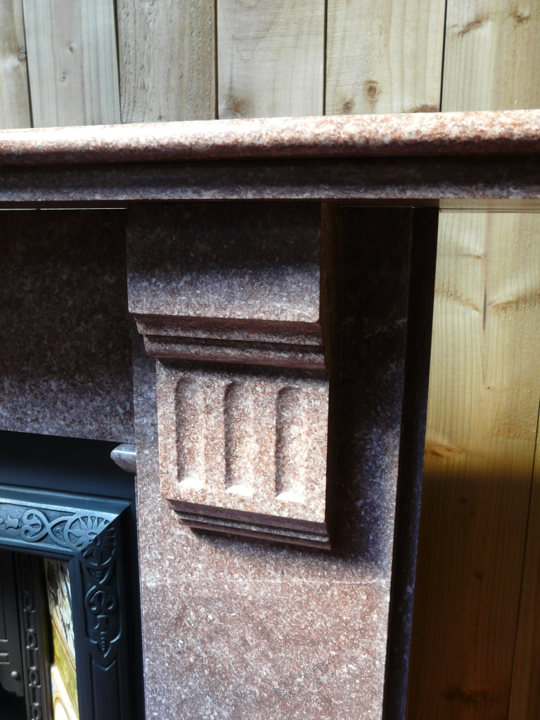 283MS 1516 Victorian Rouge Marble Fireplace Old Fireplaces