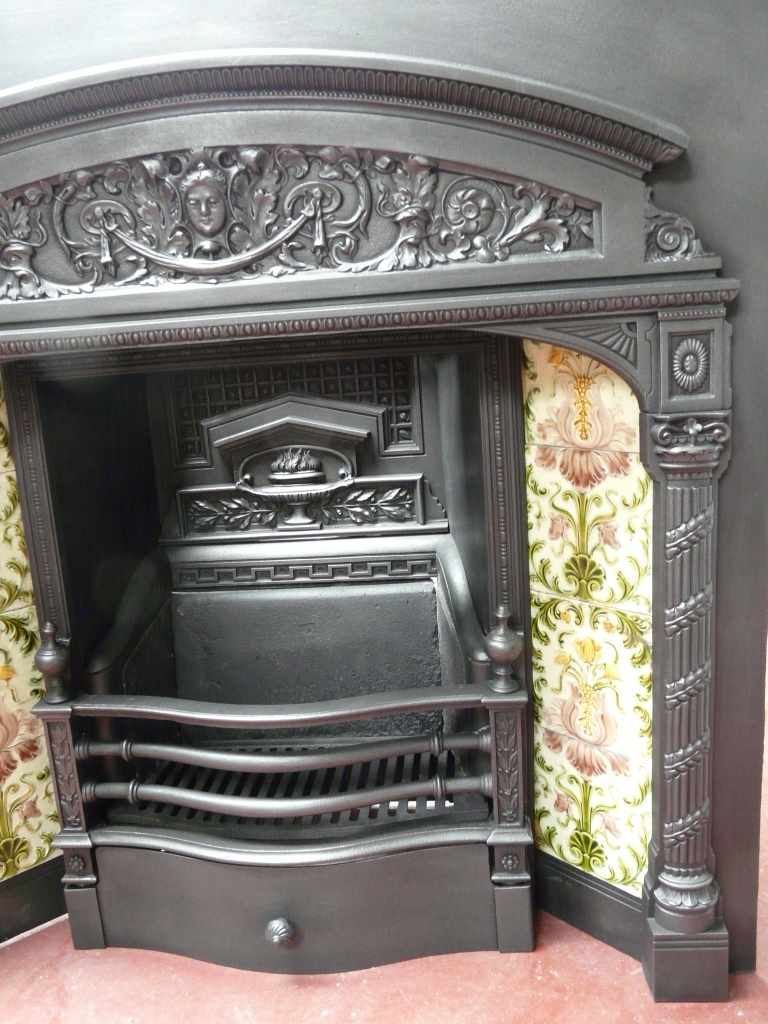 128ti 1555 Victorian Tiled Insert Old Fireplaces