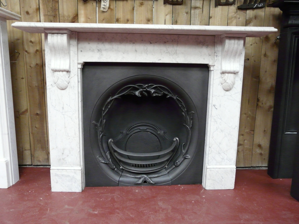 257ms 1570 Antique Victorian Marble Surround Old Fireplaces