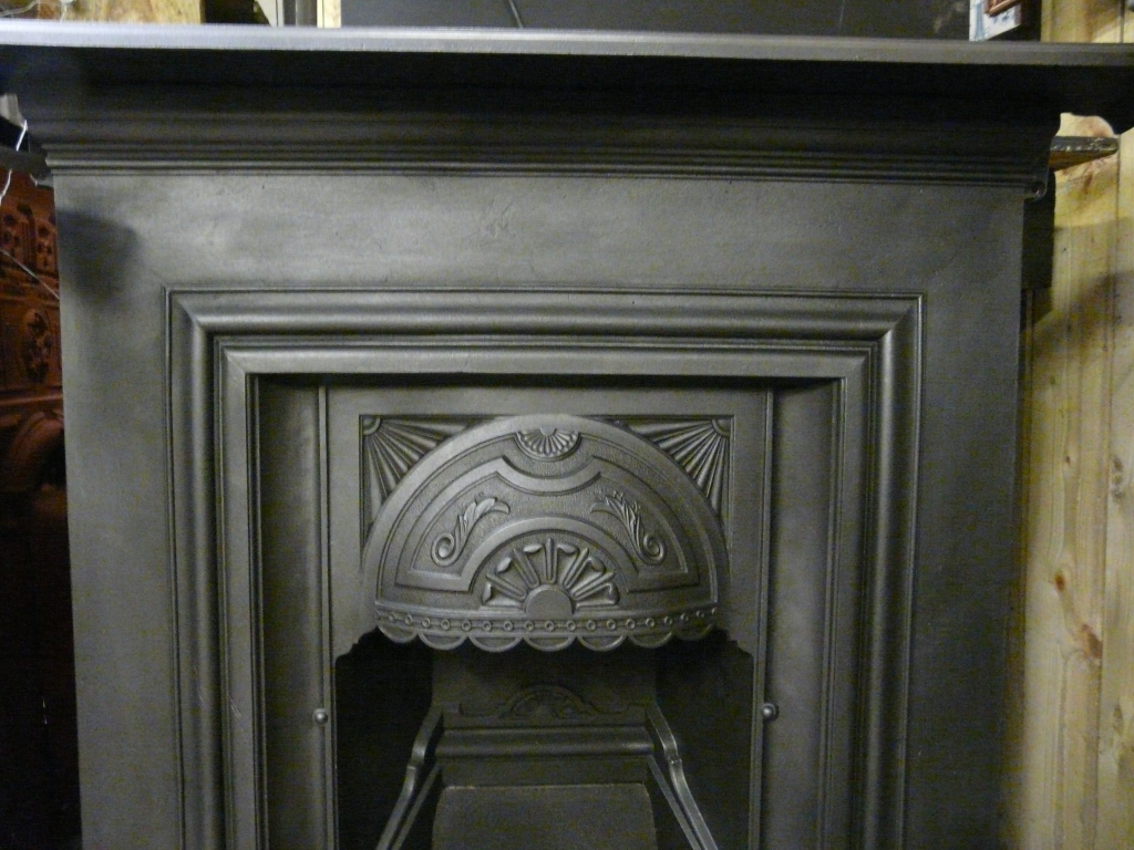 Edwardian Art Nouveau Fireplace - 270LC-1589 - Old Fireplaces