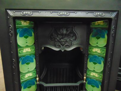 187TI_1617_Art_Nouveau_Tiled_Insert_Fireplace