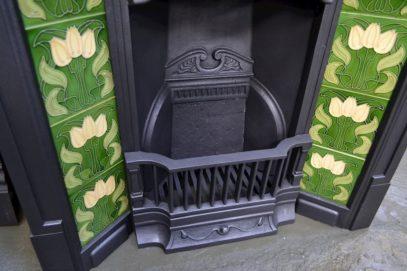 Genuine Art Nouveau Tiled Fireplaces 1638TC - Oldfireplaces