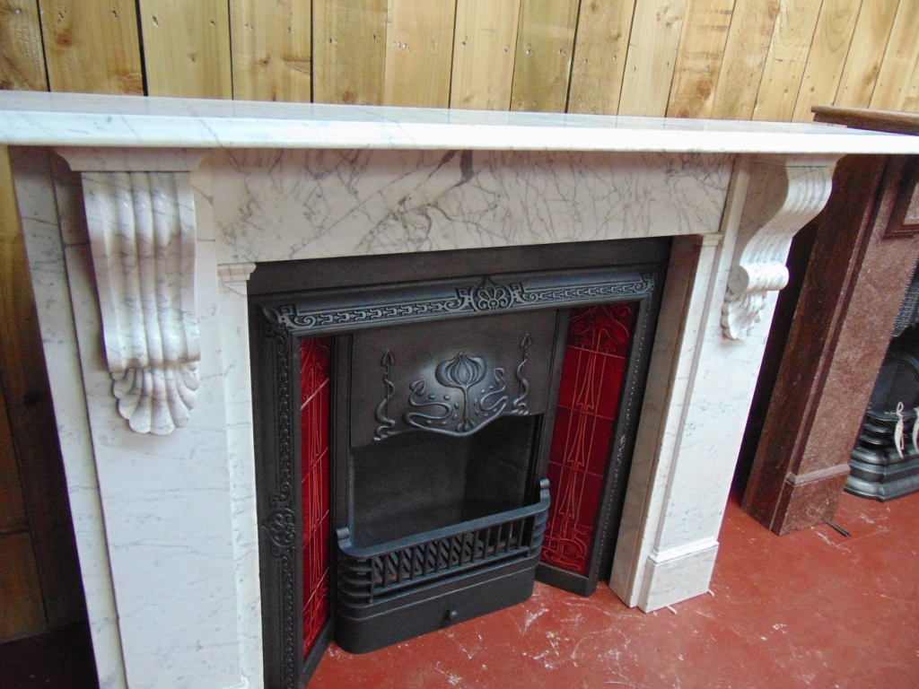 032MS 1649 Victorian Marble Fire Surround Old Fireplaces