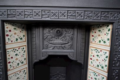 Small Victorian Tiled Insert 1652TI - Antique Fireplace Company