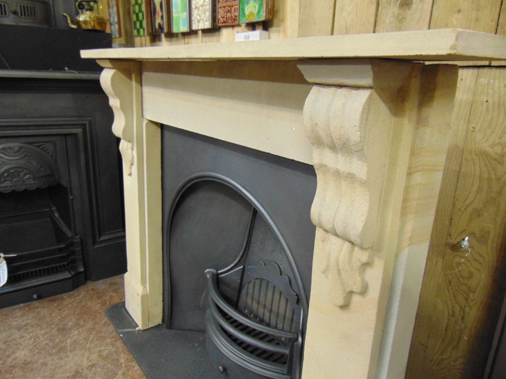 Victorian Stone Fireplace - 1655SS - Old Fireplaces
