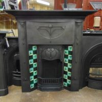 281TC_1653_Art_Nouveau_Tiled_Combination_Fireplace