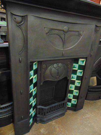 281TC_1653_Art_Nouveau_Tiled_Combination_Fireplace