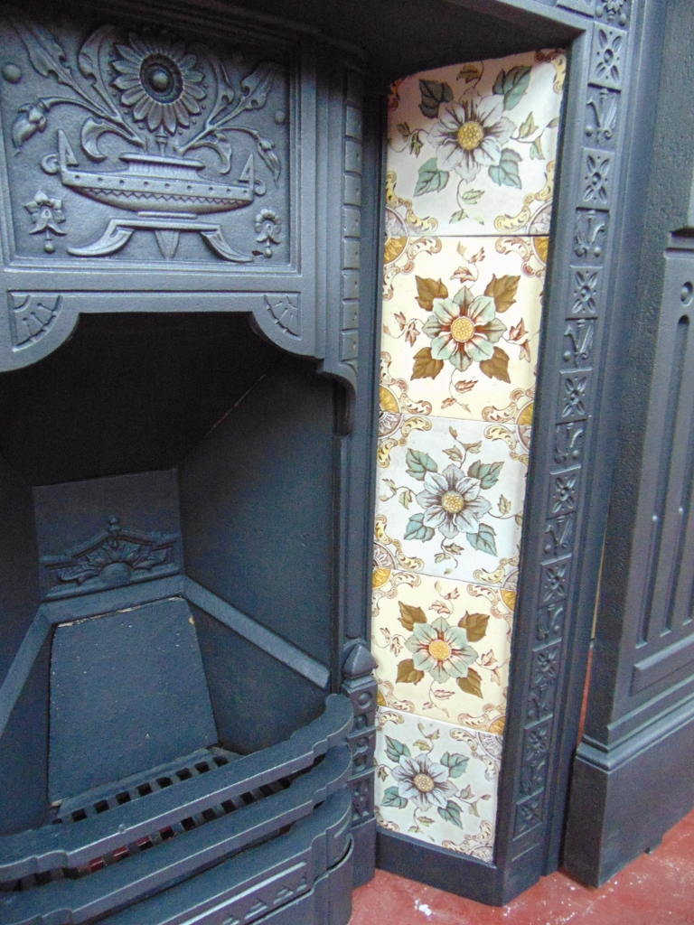 V070 Victorian Fireplace Tiles Old Fireplaces
