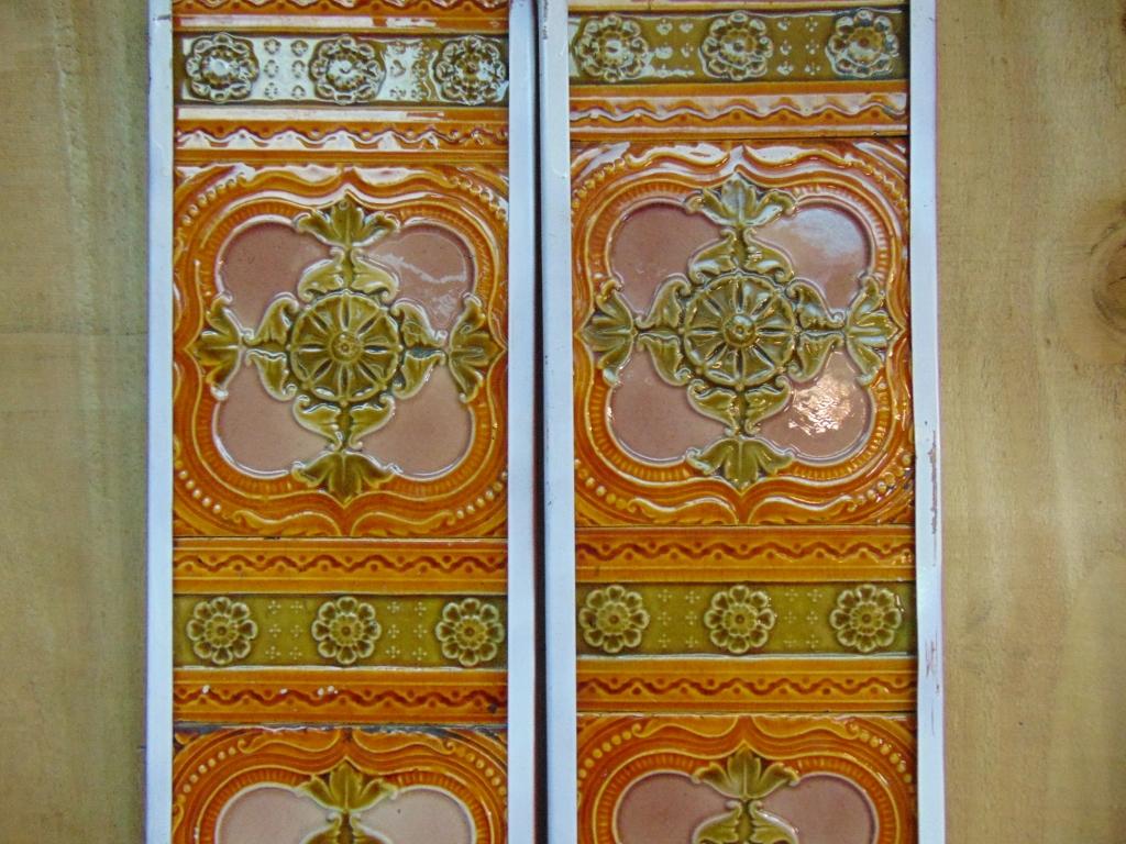 original victorian fireplace tiles v073 old fireplaces