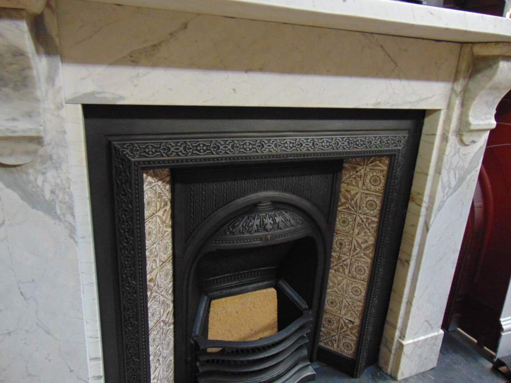 143ms 1679 Original Georgian Marble Fire Surround Old Fireplaces