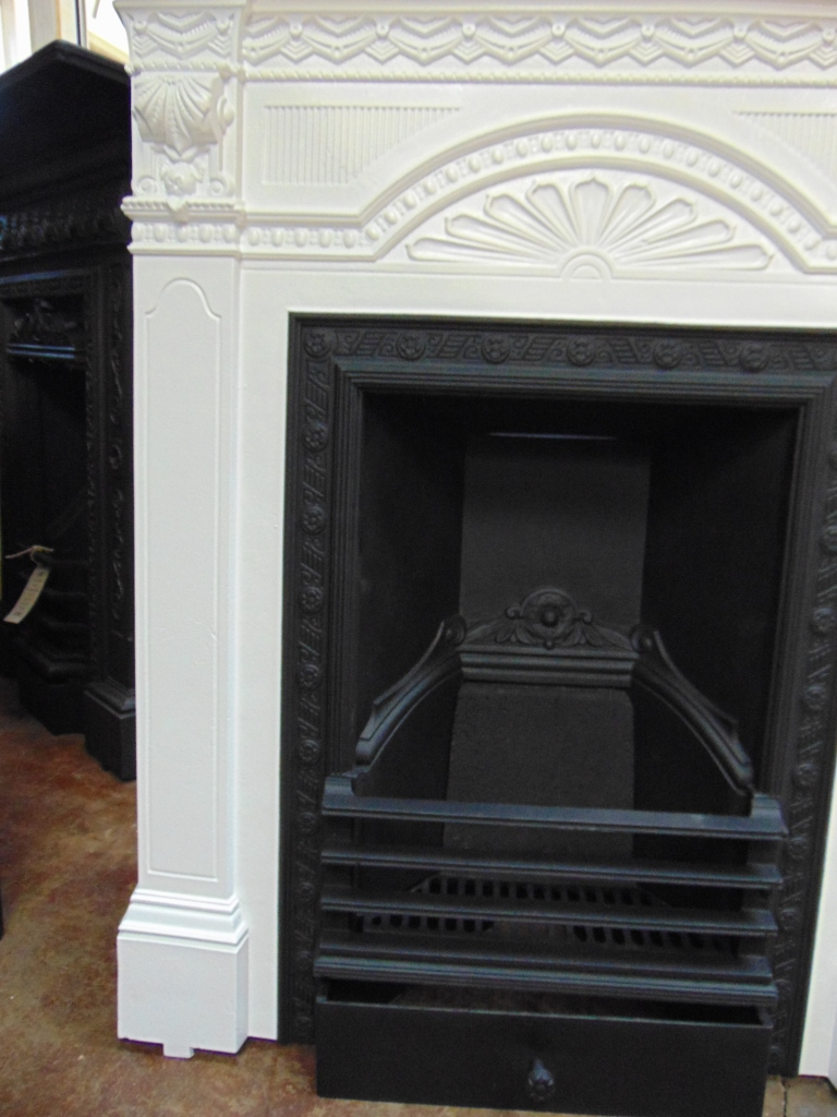 Victorian Cast Iron Fireplace 040mc 1700 Old Fireplaces