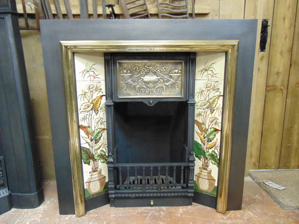 Victorian Cast Iron Amp Brass Fireplace Insert 102ti 1718