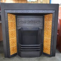 Victorian Tiled Fireplace Insert 3035TI - Antique Fireplace Company