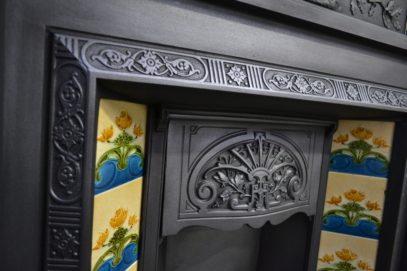 Victorian Cast Iron Tiled Insert 1728TIVictorian Cast Iron Tiled Insert 1728TI