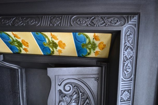 Victorian Cast Iron Tiled Insert 1728TI