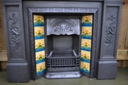 Victorian Tiled Insert - 1728TI - The Antique Fireplace Company