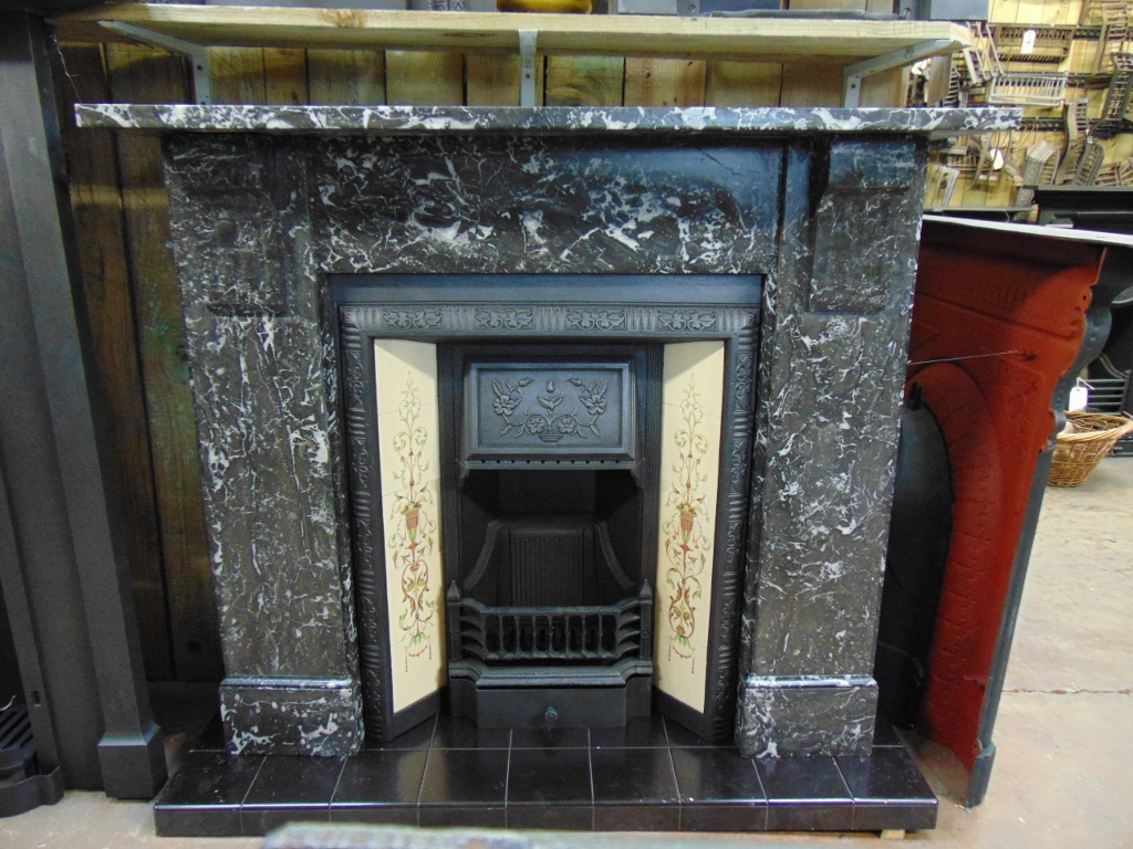 Victorian St Ann 39 S Marble Fireplace 051MS 1746 Old