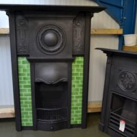 Edwardian Art Nouveau Tiled Fireplace 1745TC - Oldfireplaces