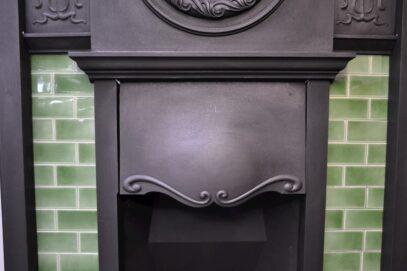 Edwardian Art Nouveau Tiled Fireplace 1745TC - Oldfireplaces