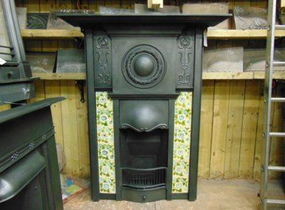 199TC_1745_Edwardian_Art_Nouveau_Tiled_Combination_Fireplace